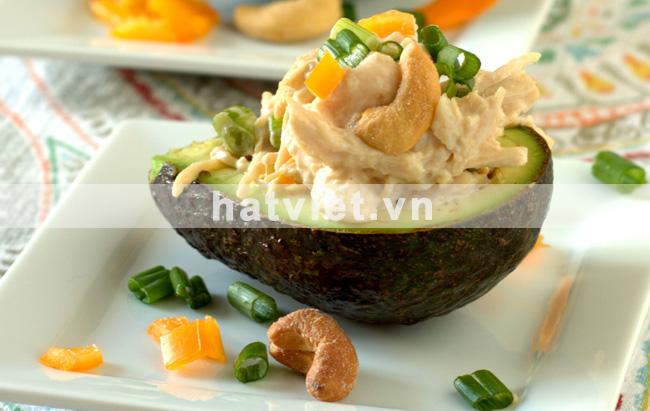 Cashew Chicken Salad Stuffed Avocados