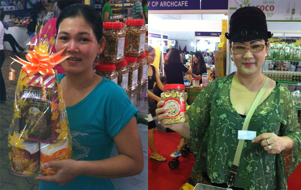 Customers with our products