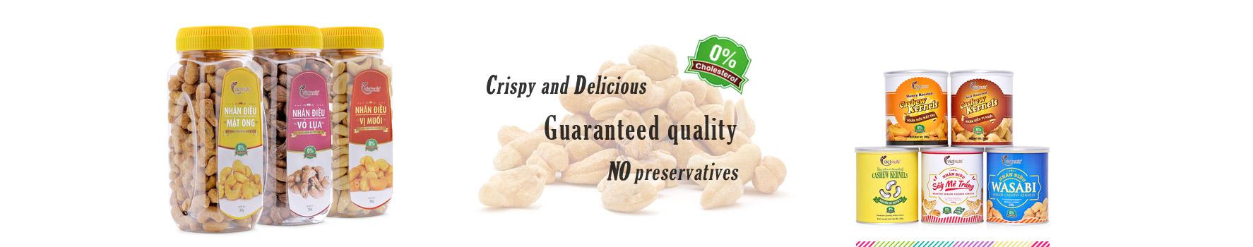 banner hạt điều Vietnuts - Viet Nam premium cashew supplier