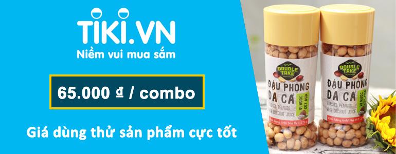 Đậu phộng da cá DoubleTake Vietnuts - roasted peanuts with coconuts DoubleTake Vietnuts