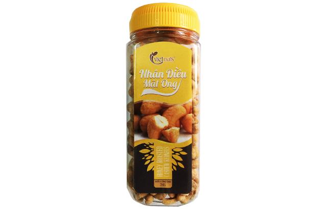 Hạt điều mật ong loại hạt trung hộp 280g
