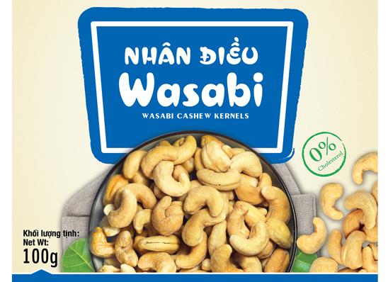 Hạt điều wasabi Vietnuts 100g