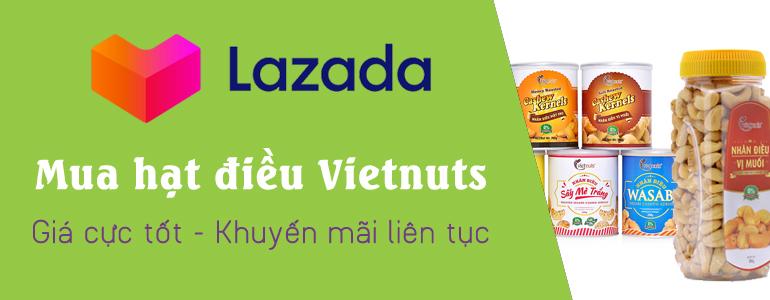 Mua hạt điều Vietntus tại lazada.vn
