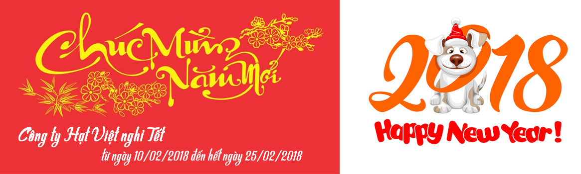 hạt Việt thông báo lịch nghỉ Tết 2018